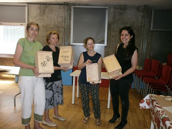 Algunos de los resultados, unas preciosas cajas para nuestros amigos alados