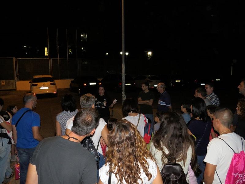 Más de un centenar de personas se unen a la celebración de la Primera Noche de los Murciélagos en Aranjuez